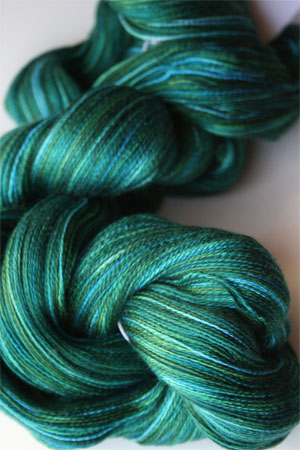 Tosh silk lace yarn by MadelineTosh in Envy
