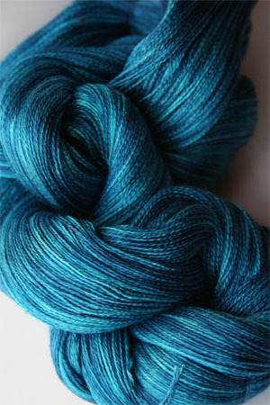Tosh silk lace yarn by MadelineTosh in Baltic