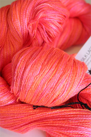 Tosh silk lace yarn by MadelineTosh in Neon Peach