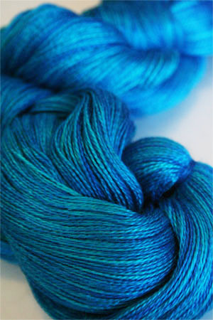 Tosh silk lace yarn by MadelineTosh in Blue Nile
