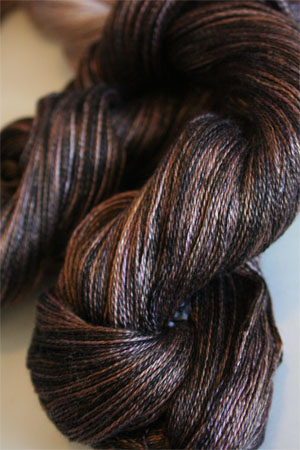 Tosh silk lace yarn by MadelineTosh in Dachsund
