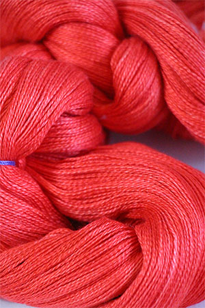 Tosh silk lace yarn by MadelineTosh in Neon Red