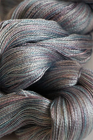 Tosh silk lace yarn by MadelineTosh in Cloud Dweller