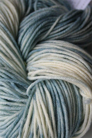 madelintosh vintage yarn in 180 Whitewash