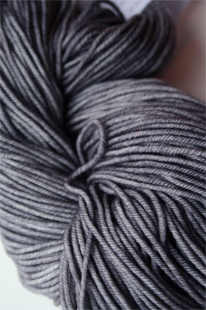 madelintosh vintage yarn in 142 composition book grey