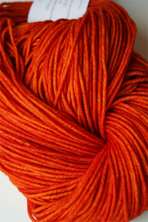 madelintosh vintage yarn in citrus