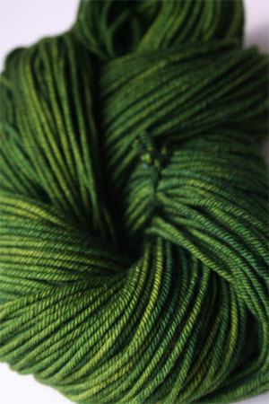 madelintosh vintage yarn in jade