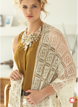 Vogue Knitting Lacey Lamb Shawl