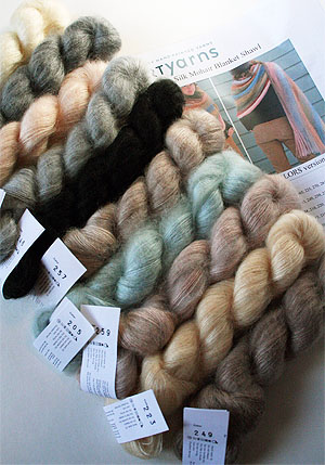 Mohair Shawl or Blanket Kit in Natural
