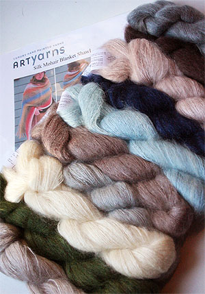 Mohair Shawl or Blanket Kit in Annies Colorway