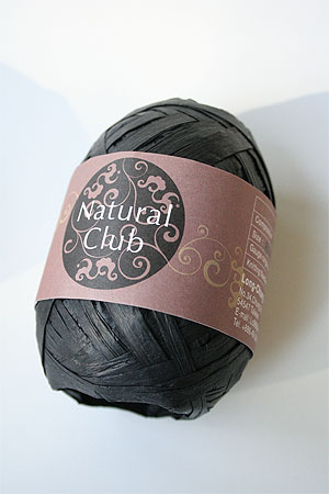 Paper Yarn from Natural Club in 21 Black