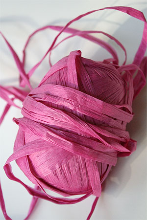 Paper Yarn from Natural Club in 15 Hot Pink