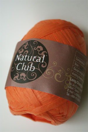 Paper Yarn from Natural Club in 18 Bright Orange