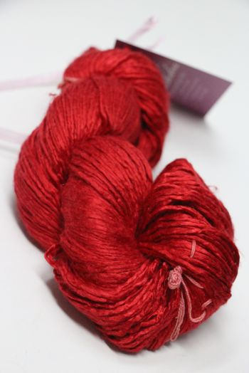 Peau de Soie Silk Yarn in Cardinal