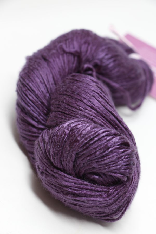 Peau de Soie Silk Yarn in Plum Juice