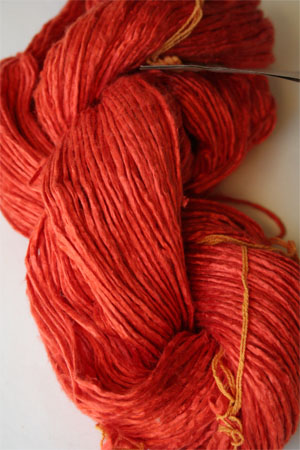 Peau de soie silk in Hot Coral Red