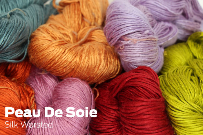 Peau De Soie Hand Dyed Silk Yarn... a fab exclusive