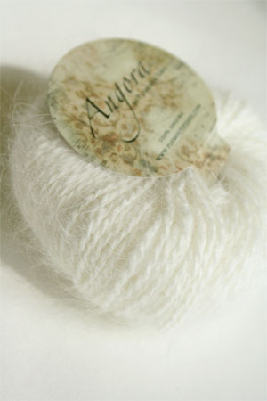 Plymouth Yarn Angora Knitting Yarn in Natural