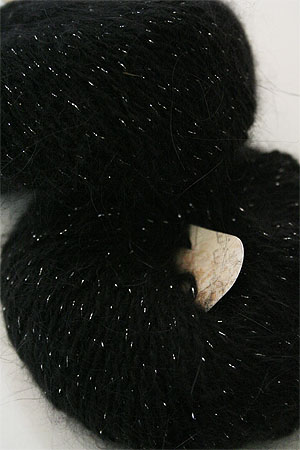 Plymouth Angora Glitz angora yarn with glitter in 713 Black/Silver