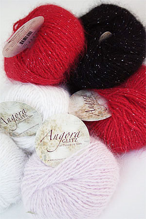 Plymouth Angora Glitz angora yarn with glitter
