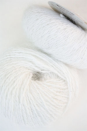 Plymouth Angora Glitz angora yarn with glitter in 709 White/Silver