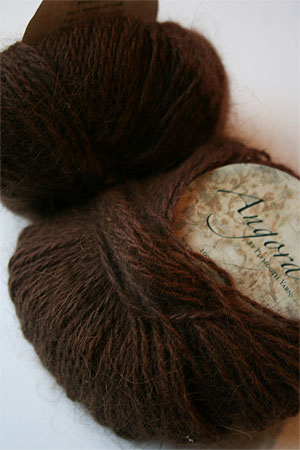Plymouth Yarn Angora Knitting Yarn in Chocolate