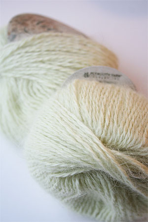 Plymouth Yarn Angora Knitting Yarn in Celery
