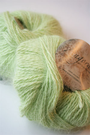 Plymouth Yarn Angora Knitting Yarn in Keylime