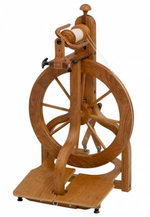 Matchless Limited Edition Cherry Spinning Wheel from Schacht at Fabulousyarn