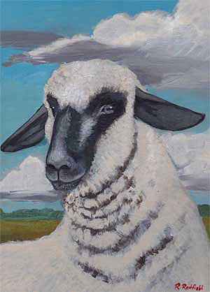 Sheep Paintings by Rochelle Redfield - Shropshire
