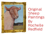 Original Sheep Paintings by Rochelle Redfield