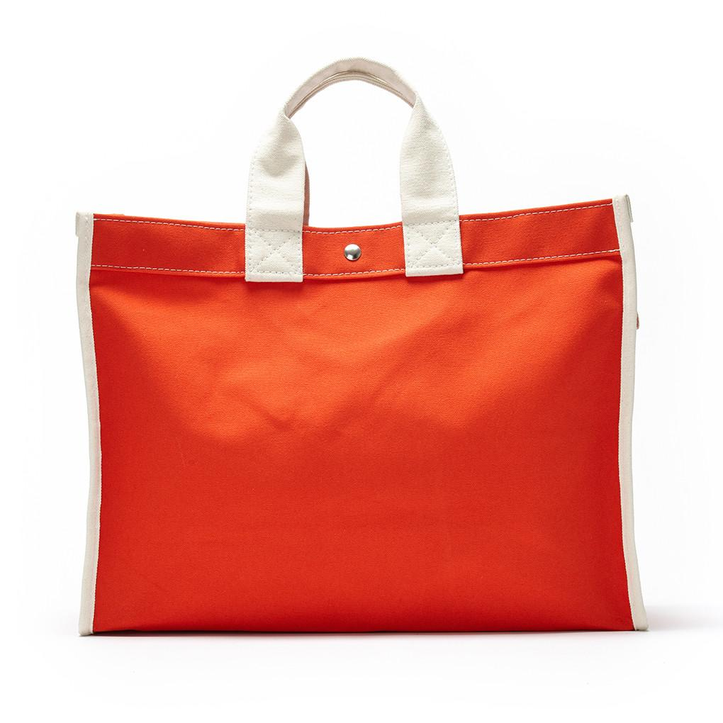 UTILITY CANVAS | CLASSIC FIELD BAG  | ORANGE WITH NATURAL TRIM