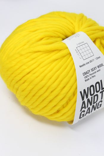 Wool & The Gang Crazy Sexy Wool in Big Bird Yellow