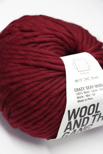 Wool & The Gang Crazy Sexy Wool in Bordeaux