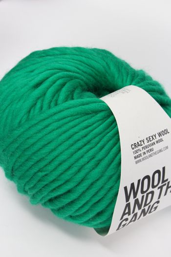 Wool & The Gang Crazy Sexy Wool in Emerald Green