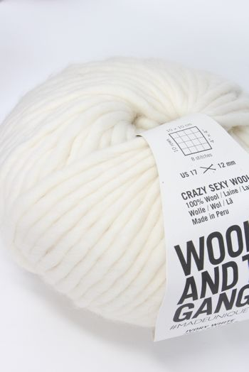 Wool & The Gang Crazy Sexy Wool in Ivory White
