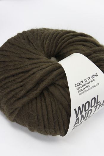 Wool & The Gang Crazy Sexy Wool in Khaki Green