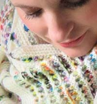 YARN SNOB SPLATTER PAINT SHAWL KNIT KIT