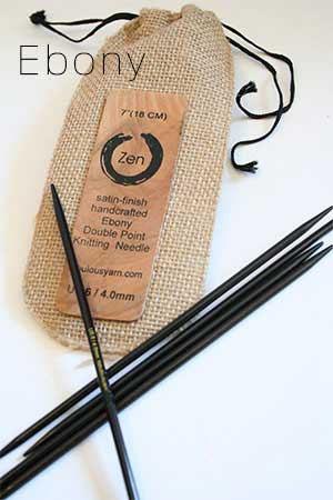 ZEN Double Point Knitting Needles in Ebony and Rosewood