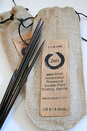 Zen Needles from Fab - gently polished Rosewood tips