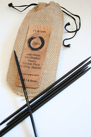 Zen EBONY Round Double Point  Needles