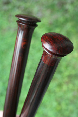 Zen Knitting Needles - round single point rosewood