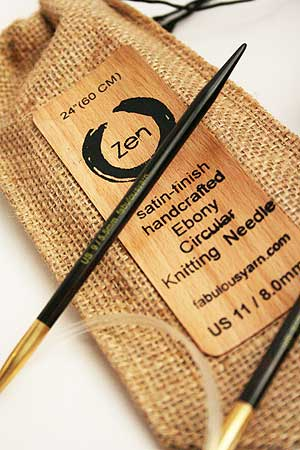 "Zen Circular Knitting Needles in 24"" Length"