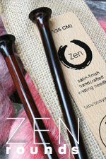 Zen Jumbo Single Point Knitting Needles
