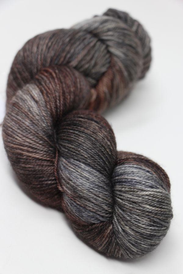 Serenity Solid Sock Yarn-Deep Brown Wool Blend//#1-Superfine