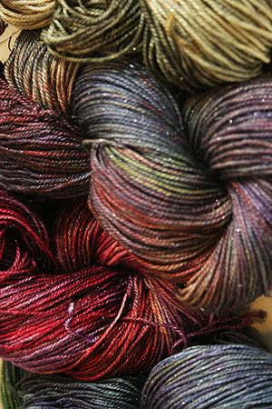 serenity glitter sock from zen yarn garden - Zen Yarn Garden