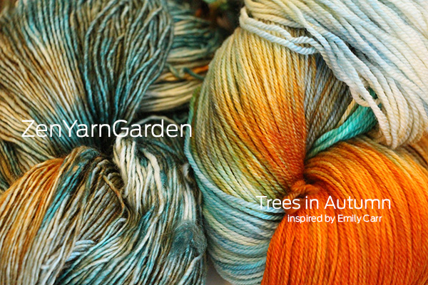 Zen Yarn Garden - Artwalk Series - Trees in Autumn!