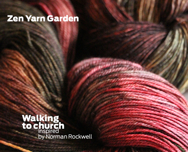 Zen Yarn Garden - Artwalk - Walking to Church